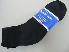 Diabetic Ankle Golf Mens Socks 3 Pr 3 Pair 10-13 Black NWT Made in USA