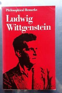 Ludwig Wittgenstein PHILOSOPHICAL REMARKS Blackwell pb