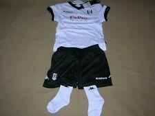 Fulham Baby Soccer Kit Kappa white Football Shirt Shorts Socks NEW