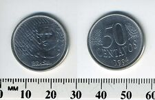 Brazil 1994 - 50 Centavos Stainless Steel Coin - Laureate liberty head left