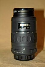 SMC PENTAX-F 1:4.7-5.6 80-200mm AUTOFOCUS ZOOM K-AF WITH FILTER & CAPS EUC 7905