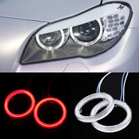 60MM Red COB SMD Angel Eyes Halo Car LED Light Ring Halo DRL Headlight Lamp