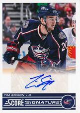 2013/14 Score Hockey SS-TER Tim Erixon Score Update Signatures Insert