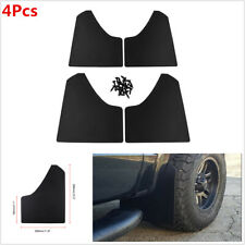 4Pcs Plastic Car Truck SUV Front+Rear Wheel Mud Guard Splash Flaps Moulding Kit