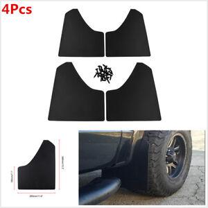 4Pcs Plastic Car Truck SUV Front+Rear Wheel Mud Guard Splash Flaps Moulding Kit