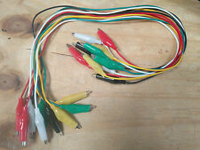 10 x New 50cm crocodile test leads croc clips
