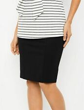 A Pea in the Pod Secret Fit Belly Pencil Fit Ponte Maternity Skirt Black M NEW