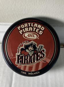 Portland Pirates Souvenir Hockey Puck Defunct AHL 1993 2016 Maine Coyotes