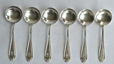 "6 Sterling Soup Bouillon Spoons, Mono ""S"" Mauser Chelsea 1910"