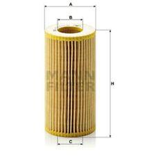 Mann HU719/8x Oil Filter Element Metal Free 125mm Height 64mm Outer Diameter