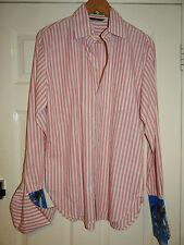 Paul Smith-London Smart Diseñador Rosa Rayado informal/Vestido Camisa M