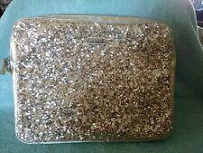 Nine West Laptop Case Bag Zipper Closure Padded Gold Sequins Giltz