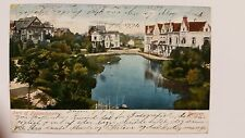 1906 Parti af Nygaardsparken Bergen Norway Color Postcard