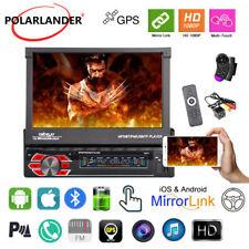 7''1 Din GPS Car Radio Stereo iOS Mirror Link FM Touch Screen BT NAVI+Camera+SWC