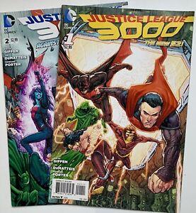 2014 JUSTICE LEAGUE 3000 #1 #2 Early Series Bundle DC Comics Set Lot Run