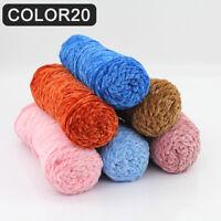 DV_ 100g Chenille Wool Thread Crochet Cashmere Yarn Scarf Knitting Yarn Crafts E