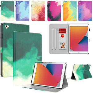 Folding Flip Leather Stand Cover For iPad 5 6 7 8 9th Gen Air Pro 11 12.9 Mini 6
