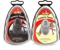 2 X KIWI Neutral & Black Express Shine Instant Sponge Polish 7ml leather shoes