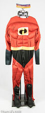 Super Hero Costume Mr. Awesome 4pc Padded Muscle Jumpsuit Halloween Costume