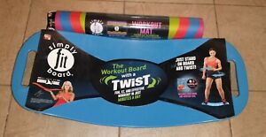 Simply Fit Board The Workout Balance Board with a Twist Blue with Workout Mat