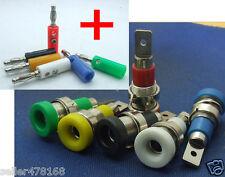 6 sets 6 Colors Multimeter instrument Binding Post for 4mm Banana Socket Probes