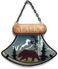 Alaskan Ulu Knife Design Sun Catcher with Grizzly Bear