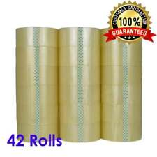 "42 Rolls 2"" x 120 Yards (360' ft) Box Carton Sealing Packing Package Tape Clear"