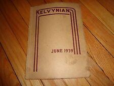 June 1939 Kelvyn Park High School Yearbook Chicago