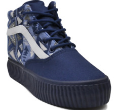 Tanggo Avrille Fashion High Cut Sneakers Women's Shoes (NAVY BLUE) SIZE 38