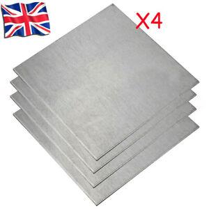 4 PCS Titanium Ti Sheet Plate Square Board Thick 0.5-3MM ASTM Grade 5 100*100mm