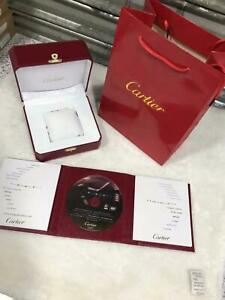 Cartier Professional Watch Box Women's men's Genuine Red Leather FULL SET +DISK