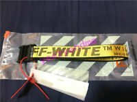 SS18 OFF WHITE Tie Down Nylon Cotton IRON Head Industrial Belt 200cm 3 colors