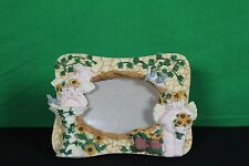 Ceramic Table/Shelf Picture Frame Angels Bird Bath Decorative Collectible