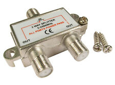 F-Connector Splitter 2 way F plug split satelitte sky ect signal into 2