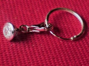 STERLING SILVER & TINY ROUND CRYSTAL PENDANT on a15mm HOOP EARRING £8.50 nwt