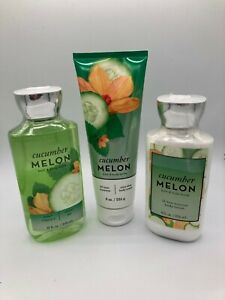 Cucumber Melon shower gel body cream and lotion set NEW