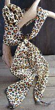 2pc Scarf Leopard Animal Print 3-In-1 Long Versatile Headband Fashion Accessory