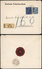 Austria Levant 1910 - Registered Cover Caifa to Mersina C4