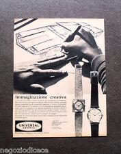 P118 - Advertising Pubblicità -1963- UNIVERSAL GENEVE IMMAGINE CREATIVA