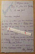 L.A.S 1906 Henry BERENGER Sénateur Guadeloupe de Bonnefon L'Action Rugles lettre