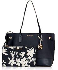 Michael Kors Bag Handbag Trista LG Drawstring Tote Bag Clutch Navy White New