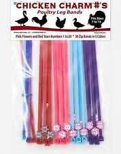 Numbered Poultry Leg Bands ~ One Size Fits All Chickens,Geese,Ducks,Turkey