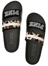 Victoria's Secret PINK Leopard Double Strap Slides Size Small 5/6 New With tags!