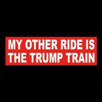 """MY OTHER RIDE IS THE TRUMP TRAIN"" Pro Donald BUMPER STICKER re-elect 2020 MAGA"