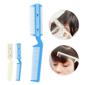 Razor Blades Cutting Thinning Trimmin Salon 2 IN1 Hair Cutting Comb Hair Brushes
