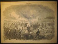 Battle Of Bull Run, 1st, 2 P.M. July 21 Engraving 1861