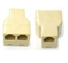 5 PCS RJ12 6P6C PHONE 1 to 2 Y FEMALE ADAPTER SPLITTER Extension JOINER NEW