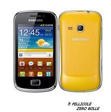 5 Pellicola per Samsung Galaxy mini 2 S6500 Protettiva Pellicole SCHERMO LCD