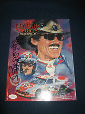 NASCAR RICHARD PETTY HOF SIGNED AUTOGRAPHED Legends Magazine JSA COA F74146