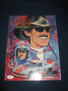 NASCAR RICHARD PETTY HOF SIGNED AUTOGRAPHED Legends Magazine JSA COA F74146 1